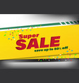 super sale template banner special discount up to vector image vector image