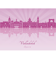 Valladolid skyline in purple radiant orchid vector image vector image