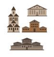 various buildings vector image