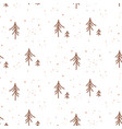 winter forest simple white seamless texture for vector image