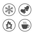 winter season icon design simple rounded weather vector image vector image