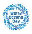 World oceans day design template ocean health