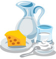 milk and cottage vector image