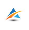 abstract mountain business logo vector image