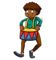 Man with a drum vector image