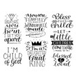 7 hand-lettering motivational bible quotes for vector image vector image