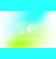 abstract background design eco green turquoise vector image vector image