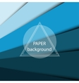 Abstract background with blue paper sheets vector image vector image