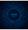Abstract Circular Blue Background vector image vector image