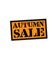 autumn sale stamp on white vector image vector image