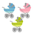 baby buggys vector image
