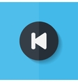 Back track web iconMedia player Flat design vector image