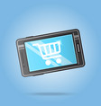 best seller smartphone logo template sale design vector image