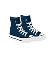 blue casual tall shoes fashion style item vector image vector image