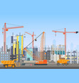 building city skyline under construction vector image vector image