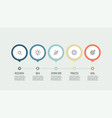 business process timeline with 5 options vector image vector image