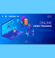businessman and online video training vector image vector image