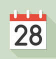 calendar and number calendar icon set flat design vector image