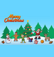 cheerful christmas character vector image