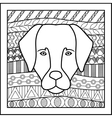 Chinese zodiac sign Dog vector image vector image