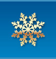 christmas card with a golden snowflake vector image vector image