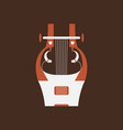 cithara flat icon folk music instrument vector image