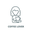 coffee lover line icon coffee lover vector image