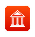 colonnade icon digital red vector image vector image