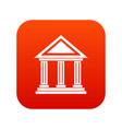 colonnade icon digital red vector image vector image