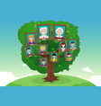concept of family tree vector image vector image