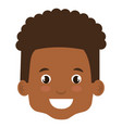 cute and little african boy head vector image