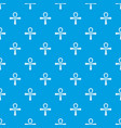 egypt ankh symbol pattern seamless blue vector image vector image
