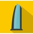 Egypt beach resort icon flat style vector image vector image