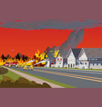 firefighters extinguish town concept forest fire vector image vector image
