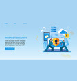 flat banner internet security protection vector image vector image