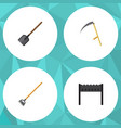 flat icon garden set of barbecue tool shovel and vector image vector image