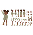 flat of cute african american vector image