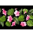 Floral linear tile design