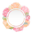 flower banner peony vector image vector image