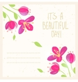 flowers design card vector image vector image