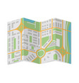 folded city map abstract cartography vector image