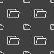 Folder icon sign Seamless pattern on a gray vector image vector image
