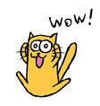 funny orange cat tik enjoys vector image