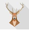 Geometric deer head vector image