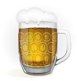 glass of beer isolated vector image