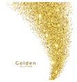 golden glitter on white background vector image