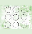 handpainted branches wreath clip art vector image