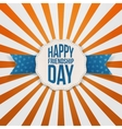 Happy Friendship Day Badge with blue Ribbon vector image