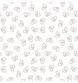 heartbreak outline concept seamless pattern vector image vector image