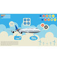 Infographics of the airplane vector image vector image